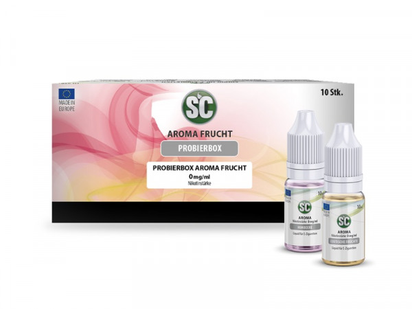SC Fruit Taste Probierbox 10 x 10 ml Liquid